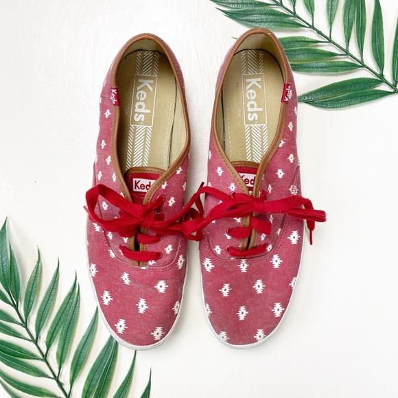 Keds Tribal Comfort Aztec Design Shoes Red Size 10